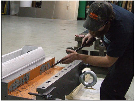 Machine Tool Scraping Service - Hand Scraping Services   KRC Machine